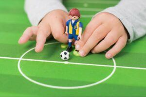 pretend play with soccer