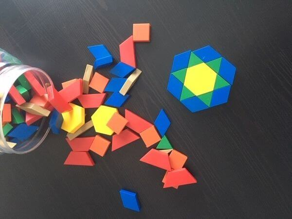 educational toys for 6 year olds- pattern blocks