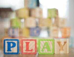 blocks spelling play