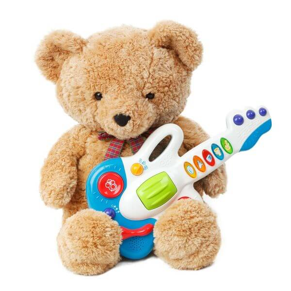 Bear with Toy musical instrument