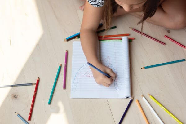 Home Activities for Kids- child drawing