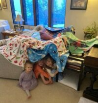 Home Activities for Kids-kids in a fort