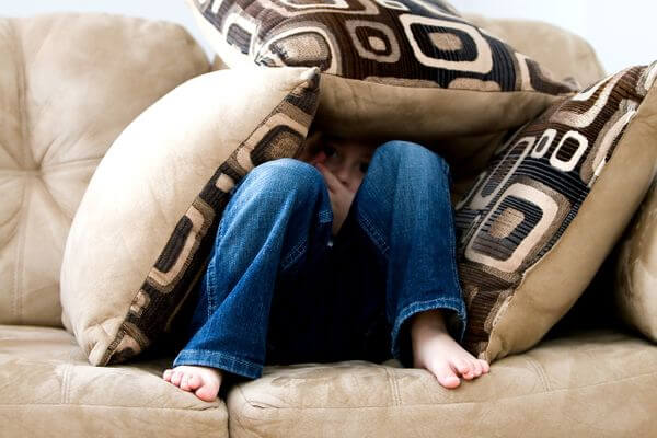 Home Activities for Kids- child hiding