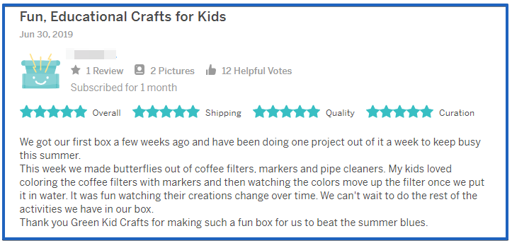 Green Kid Crafts Review- screenshot 2