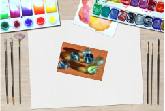 31 Remarkably Creative Activities for Kids- marble water colors