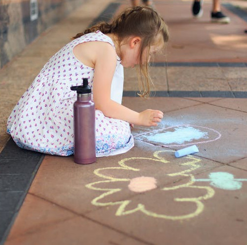 31 Remarkably Creative Activities for Kids- chalk art