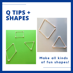 thingstodowithshapesforkids- Q tips
