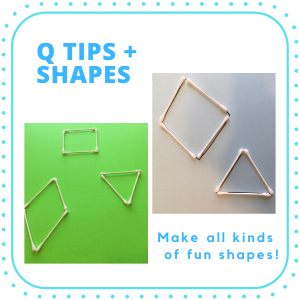 thing to do with shapes for kids- Q tips shapes