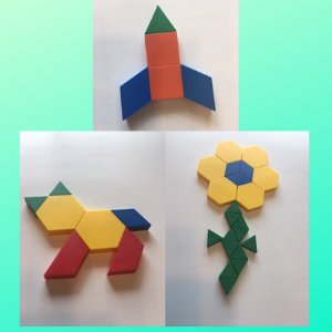thing to do with shapes for kids- pattern block pictures