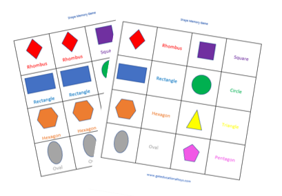 things to do with shapes for kids-shapes memory game