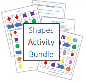 things to do with shapes for kids- shapes activity bundle freebies
