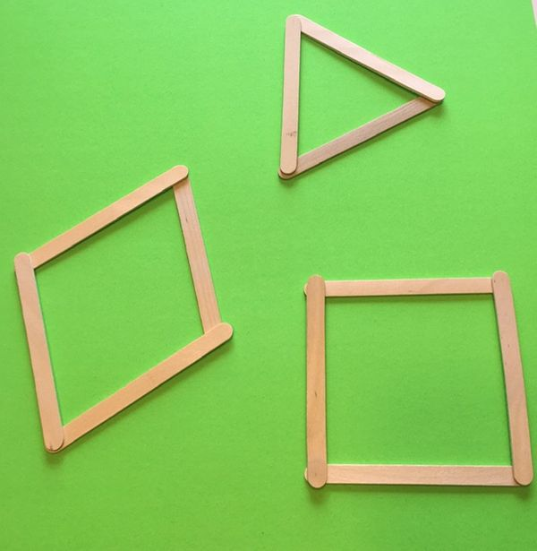 things to do with shapes for kids- popsicle sticks