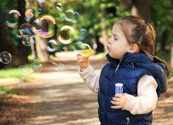 Subscription boxes for toddlers, toddler blowing bubbles