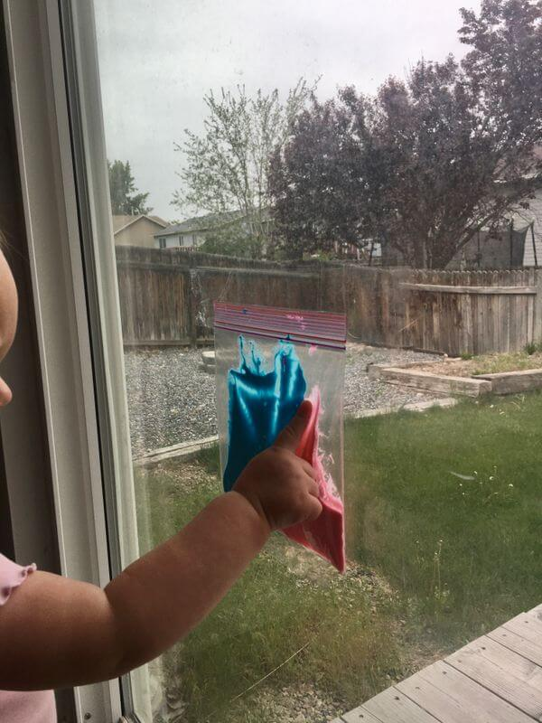 home activities for toddlers- clean painting