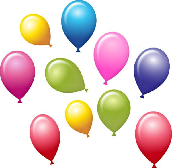 how to create graphic organizers- birthday balloons