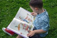 personalized books for children- boy reading a book