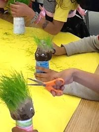 how to make a grass head- grass head haircut