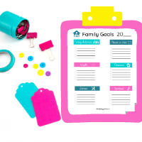 family goal setting worksheet