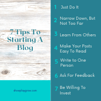 7 tips to starting a blog