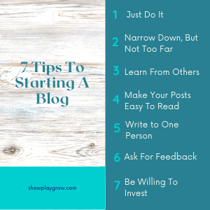 Tips to starting a blog
